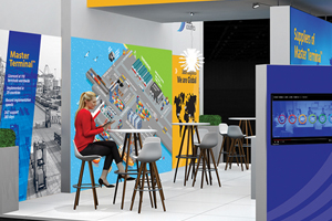 computer render of Jade Logistics booth at TOC Europe 2018
