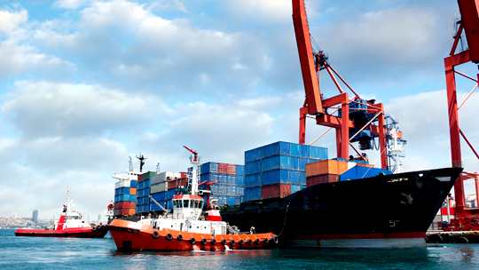 Tug boat with containers IIG whitepaper